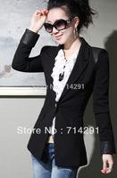 S- XL  women's autumn paragraph elegant slim ol blazer short jacket free shipping