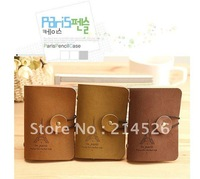 Eiffel Tower card/ID holder, Korean style,vintage romantic suede leather card holder,with string buckle,33g,10pcs per lot