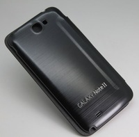 TOP Quality PU Leather case back cover with working NFC chip for Samsung Galaxy Note2 N7100 Free shipping