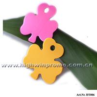 32.5*32.5*1mm Aluminum Alloy Shamrock-Shape Pet Pendant,Anodize Colorful Pet tags For Dog!Free Shipping!!!