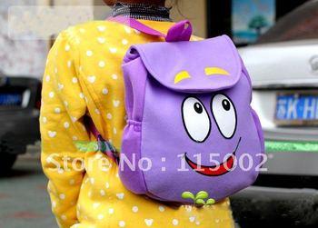 Free Shipping Dora The Explorer Mr Face Plush Backpack Shool Bag Purple Toddler  Retail