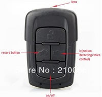 Built-in 8GB FULL HD IR 720P car key camera DVR Cam detector video IR night version keychain camera