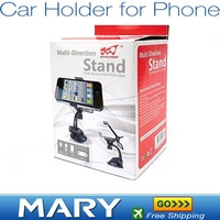 Free Shipping Car Universal Holder Mount Stand for iphone 4G/mobile phone/PSP/PAD/MP4