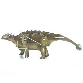 Ankylosaurus movable 3D puzzle(animal shape) plastic wild animal toy super 3D puzzle