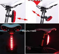 2012 New Cycling Bike Bicycle 5 LED 3 Mode Safety Rear Tail Light Lamp Red Free Shipping 4300