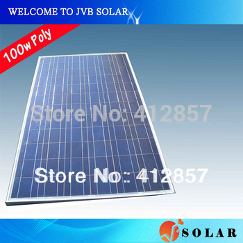Solar Panel Kits 100w Polycrystalline PV Cell Module 17.2V Charge for 12V Battery to Power Supply -CE,TUV,CEC