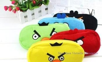 Kawaii 5Colors Cartoon Birds 20*10CM Plush School Kid Pen Pencil BAG Pouch Case Pack Pendant Makeup Pouch Coin Purse Wallet BAG
