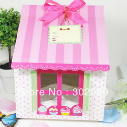 Free shipping PVC window Four Cupcake boxes ,Cake boxes New design Arrival(China (Mainland))