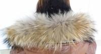 Free shipping, 100% natural raccoon fur  hat brim, 75*15cm hat strips, scarf muffler
