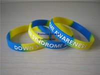 Down Syndrome Awareness Wristband, Silicon Bracelet, Flled in Colour Wristband, 100pcs/Lot, Free Shipping