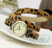 Luxury Leopard Roman Number Long Starp Quartz Watch Women Girl Wrist Quartz Watches Xmas Gift Free Ship