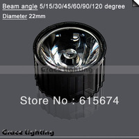 2lots+Freeshipping +High Power LED Lens with  15/45/60/90/120 Degree For 1w 3w Lamp & white Black Holder