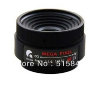 "5.0 megapixels CCTV LENS 4mm fixed lens, 1/2.5""  CS F1.6 4mm lens for Security Camera, for MP IP Cam  Free shipping"