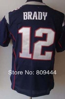 Free Shipping #12 Tom Brady Men's Elite Football Jersey,Stitched Logos,Size M--3XL,Accept Mix Order