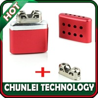 Free shipping ! New Small Ultralight Aluminum Portable Pocket Red Handy Hand Warmer + Free Replacement Head