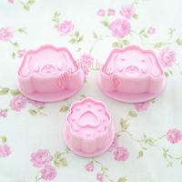 3 pcs/set,zheng de Pig&Heart Cute Design Cartoon cookie cutter cake Mold Pink Color Cake Set.