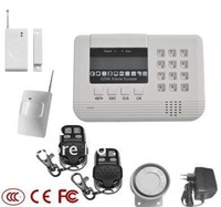 GSM&PSTN 99wireless and 2 wired security alarm system  with LED display and keyboard, GSM security alarm system