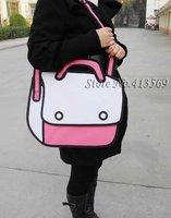 DHL free shipping Comic cartoon 3D vivid Shoulder Bag HandBag carry in space cartoon bag