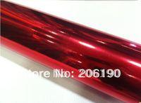High quality 1.52*30M (air free bubbles) chrome mirror Red  film, chrome color changing film, chrome car sticker.