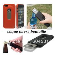 Fedex free shipping Mix color 100pcs/lot Bottle Opener Case for iPhone 5 Hard Shell Case Slide Out Bottle Opener Case
