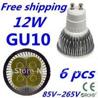 6pcs/lot CREE LED High power GU10 4x3W 12W led Light led Lamp led Downlight led bulb spotlight Free shipping