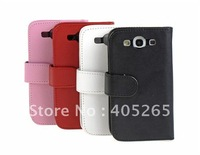 free shipping, New arrival leather pouch Flip cover leather case for samsung Galaxy S3 i9300