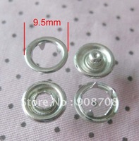 Bronze buttons 9.5mm silver plated 100pcs sprong snap buttons garment accessory HW001
