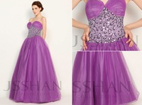11G023 Strapless Purple Tulle Beading Ruched Gorgeous Luxury Unique Brilliant Quinceanera Dress Ball Gown Dresses
