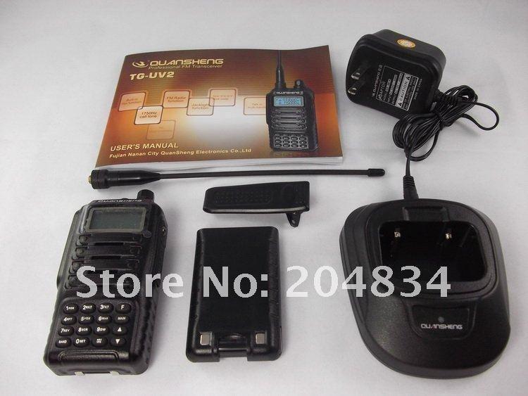 Holiday Sale FREE shipping QUANSHENG TG-UV2 UHF VHF Ham Radio(China (Mainland))