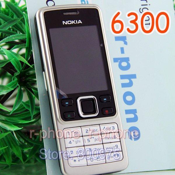 Original Nokia 6300 Mobile Phone Unlocked Bluetooth Camera & Russian keyboard & one year warranty(China (Mainland))