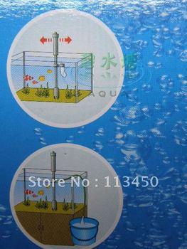 FREE SHIPPING Aquarium Fish Tank Battery Syphon Gravel Filter Water Pump Vacuum Cleaner