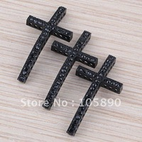 Wholesale Free Shipping  Spray Paint Cross Metal Curved Rhinestone Beads Sideways Cross Connector For Bracelet 20pcs GA162-20