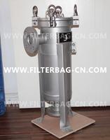 Stainless steel bag filter housing, 20m3/h