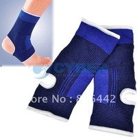 New Ankle Pad Protection Elastic Brace Guard Support Sports Gym Blue Free Shipping