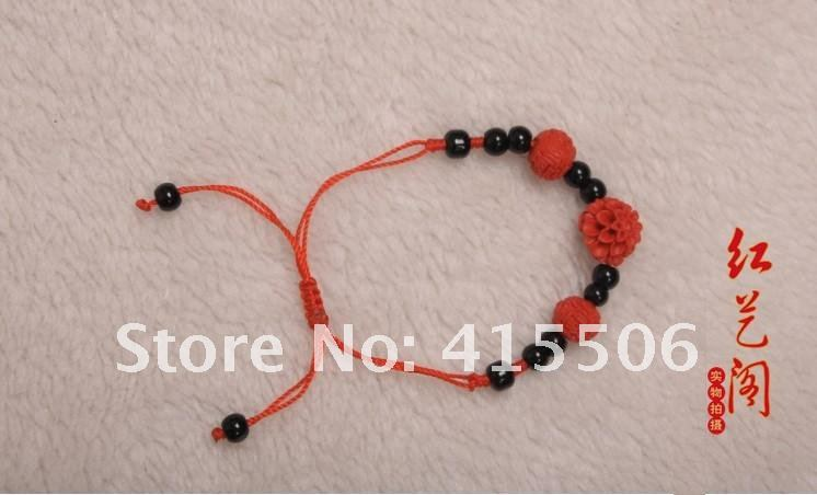 Wholesale Free shipping new style bracelet/Red Vermillion shell carvings/ fashion jewelry/(50pcs/lot 5 types optional(China (Mainland))
