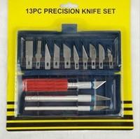 13 pieces precision knife set carving knife art set school supplies art supplies wholesale promotion