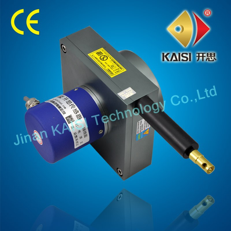 pull wire displacement transducer KS90-5000-420 Range 0-5000mm current output manufacture direct rope position transducer(China (Mainland))