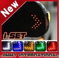 Car led car Mirror Arrow Turn Light Indicator Safe Mirror Light Turn Signal Arrow Flash 14led car lights