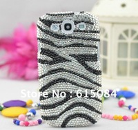 New Fashion Zebras Bling Diamond Hard Case Cover For Samsung SIII Galaxy S3 i9300 Free Shipping