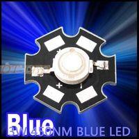 Freeshipping! 10PCS 3W Royal Blue High Power LED Emitter 700mA 450-455NM with 20mm Star Platine Heatsink for Plant Grow/Aquarium