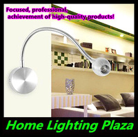 Genuine 3pcs/lot 3W with switch led bedside light reading lamp wall spotlight painting mirror light Free Shipping