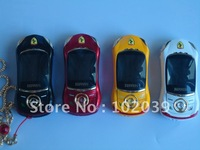 Mini fashion luxury  sport car   mobile phone   slider  mobile phones  white/black/red /yellow4color to chooce