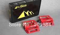 Giza CX-7 CX7 Aluminum alloy ultra-light Ball bike pedals for Mountain MTB Bike bicycle pedals 390g/pairs red color