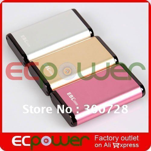 EBL 5pcs Portable External Battery Pack 5500mAh FOR Ipod,Ipad,Iphone,MP4,PMP,GPS,Camera,Mobile Phone ECpower(China (Mainland))