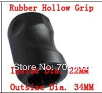 5pcs/lot black 6/5 inch rubber hollow tattoo grips free shipping with back stem