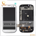 100% Original I9300 LCD For Samsung Galaxy S3 iii Display With Touch Screen Digitizer Assembly With Frame- White Free shipping