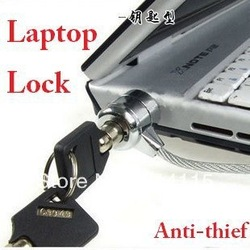 Notebook Computer Lock PC laptop lock with security cable Anti-Theft with 2 keys free shipping(China (Mainland))