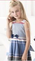 children girl princess dress bow white color girl's dresses size 2-12 Y