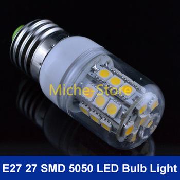 Wholesale New 6W Warm White/Cool White 360 Degree 5050 SMD 27 LED Bulb Lamp E27 Energy Saving AC 200V-240V Free Shipping