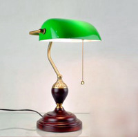 Table Lamp Vintage Green Cover Table Lamp Bedroom Bedside Lamp Study Lamp